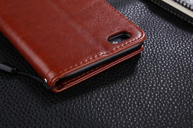 "AZNS For OPPO A77 5.5"" Case Luxury Wallet PU Leather Case For OPPO A77 Protective Cell Phone Shell Back Cover Bag"