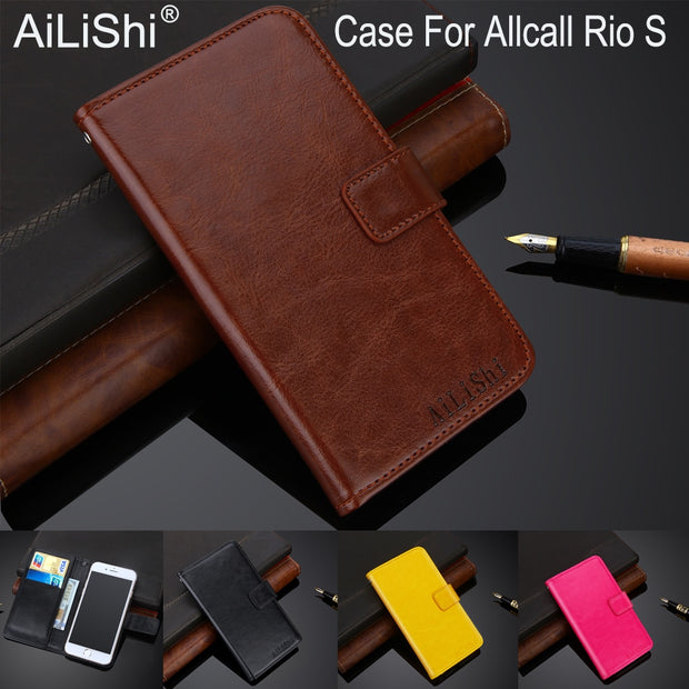 AiLiShi 100% Exclusive Case For Allcall Rio S Luxury Leather Case Flip Top Quality Cover Phone Bag Wallet Holder + Tracking