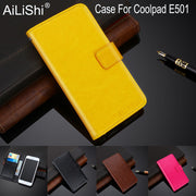 AiLiShi 100% Exclusive Case For Coolpad E501 Luxury PU Leather Case Flip Top Quality Cover Phone Bag Wallet Holder + Tracking