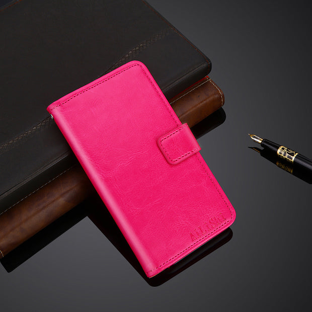 AiLiShi 100% Exclusive Case For HOMTOM HT50 Luxury Leather Case Flip Top Quality Cover Phone Bag Wallet Holder + Tracking