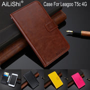 AiLiShi 100% Exclusive Case For Leagoo T5c 4G Luxury Leather Case Flip Top Quality Cover Phone Bag Wallet Holder + Tracking