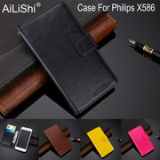 AiLiShi 100% Exclusive Case For Philips X586 Luxury Leather Case Flip Top Quality Cover Phone Bag Wallet Holder + Tracking