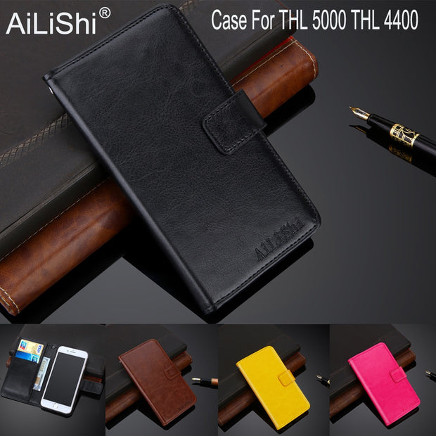 AiLiShi 100% Exclusive Case For THL 5000 THL 4400 Luxury Leather Case Flip Top Quality Cover Phone Bag Wallet Holder + Tracking