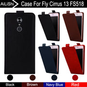 AiLiShi For Fly Cirrus 13 FS518 Case Up And Down 100% Special Vertical Phone Flip Leather Case FS 518 Fly Phone Accessories