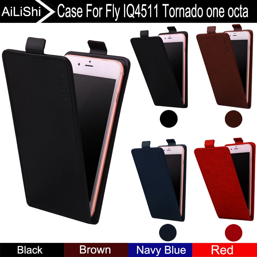 AiLiShi For Fly IQ4511 Tornado One Octa Case Up And Down Vertical Phone  Flip Luxury PU Leather Case Phone Accessories Tracking