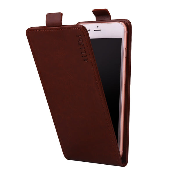 AiLiShi For Fly Power Plus 2 FS526 Case Up And Down 100% Special Vertical Phone Flip Leather Case FS 526 Fly Phone Accessories