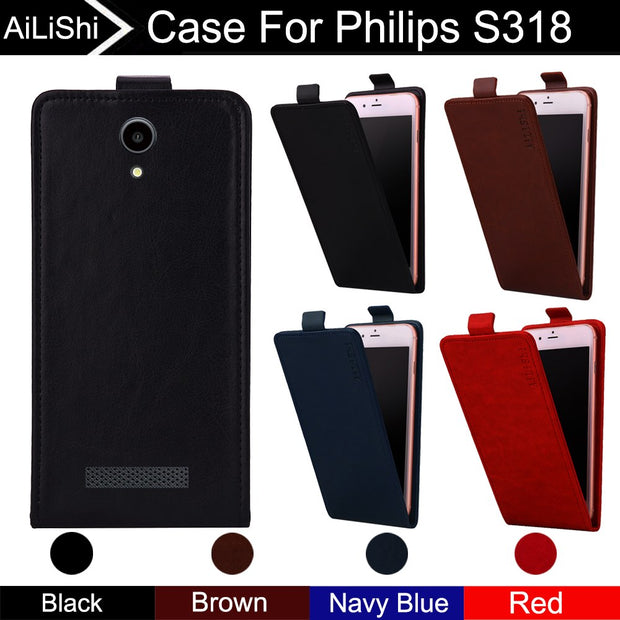 AiLiShi For Philips S318 Case Up And Down 100% Special Vertical Phone Flip Leather Case S318 Accessories + Tracking !