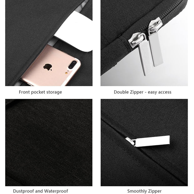 Anti-Dust Tablet Pouch Full Protective For Macbook 11 13 12 15 Inch For Kindle 6 Inch Sleeve Computer Pocket Zipper Nylon Bag