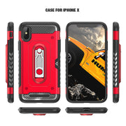 Anti-knock Army Back Cover For IPhone XR 6.1 XS 5.8 Cases PC+TPU Shockproof Metal Kickstand Armor Case For IPhone XS Max 6.5