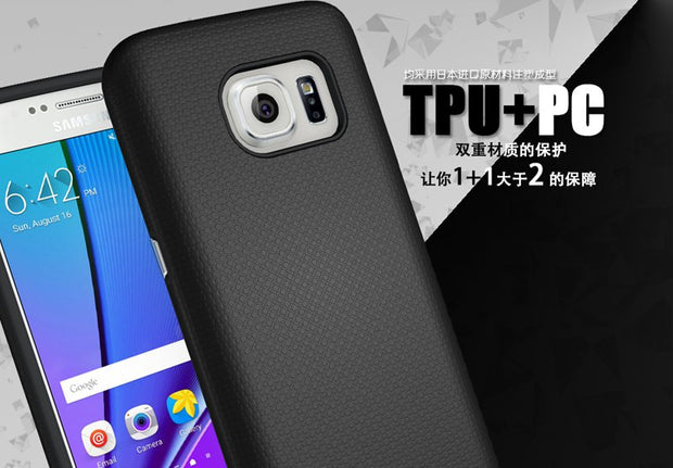 Anti-slip Hybrid Shockproof TPU+PC Protective Cover Hard Case For Samsung Galaxy S6/S7
