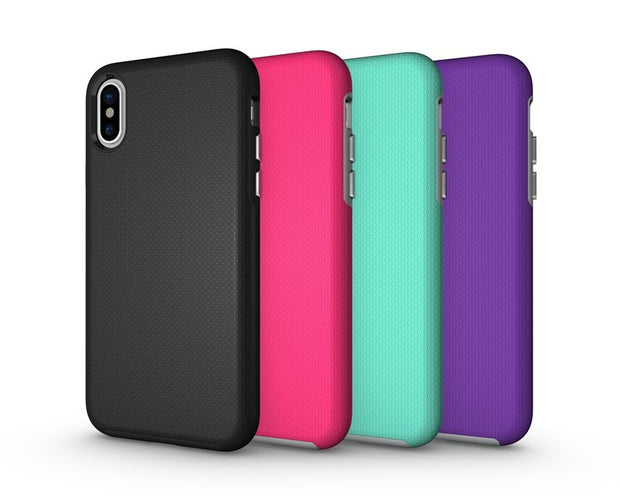 Anti-slip Hybrid Shockproof TPU+PC Protective Cover Hard Case For IPhone X