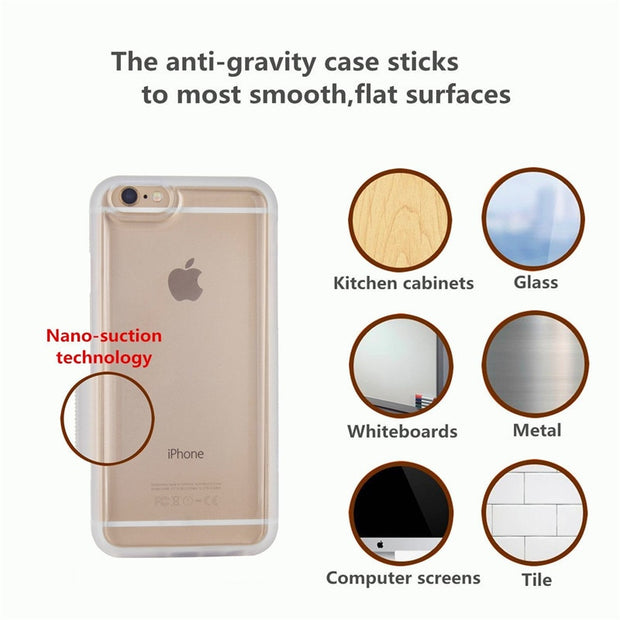 Antigravity Adsorbed Nano Suction Cover TPU Frame Wall Magic Case For Samsung Galaxy S8 S8Plus S6 S7 Edge Plus Note 5 Note 7