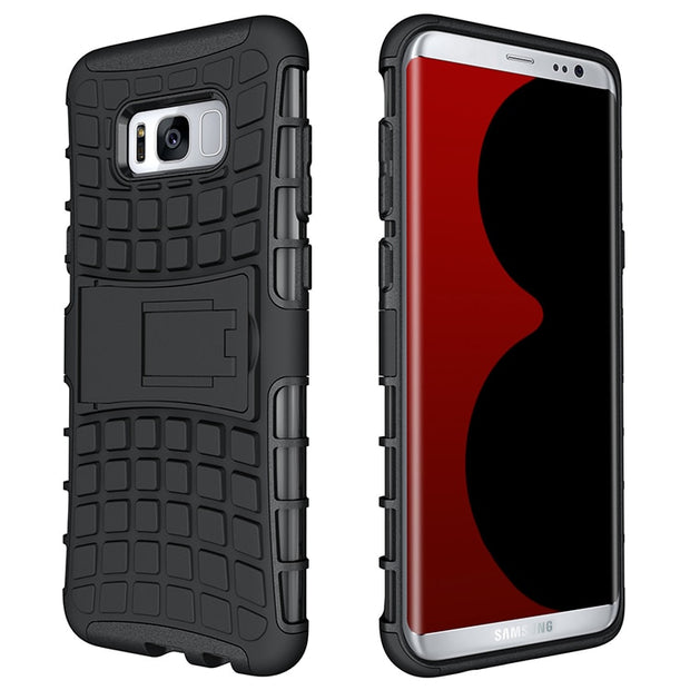 Armor Tough Rugged Shockproof Dual Layer Hybrid Hard/Soft Slim Protective Case With Stand For Samsung Galaxy S8/galaxy S8 Plus
