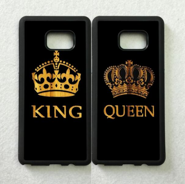 BFF King & Queen Best Friends Love Pair Soft Phone Case For Samsung S5 S6 S6edge Plus S7 Edge S8 Plus S9 Plus Note5 Note8 Note9