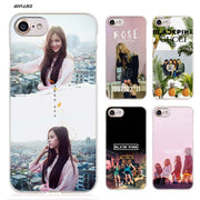 BiNFUL BLACK PINK KPOP Hard Clear Case Cover Coque For IPhone X 6 6s 7 8 Plus 5s SE 5 4s 4 5c