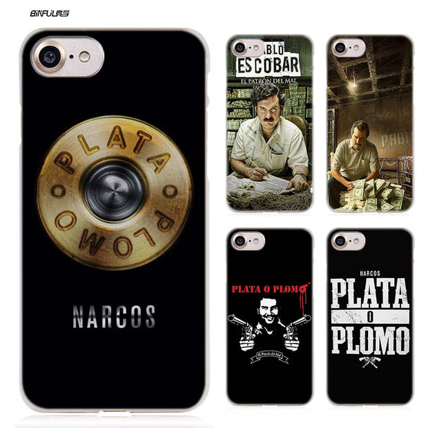 BiNFUL Pablo Escobar Hard Clear Case Cover Coque For IPhone X 6 6s ...
