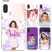 BiNFUL Violetta TV Series Hard Plastic Clear Case Cover Coque for iPhone XS Max XR X 180x