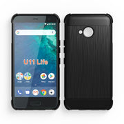 Black Shock Absorption Cover Soft TPU Anti Scratch Carbon Fiber Design Back Case For HTC U11 Life