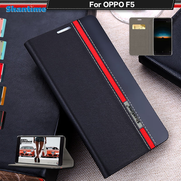 Book Case For OPPO F5 Flip Case Luxury Leather Phone Bag For OPPO A73 Case Cover Business Wallet Case Soft Silicone Back Cover