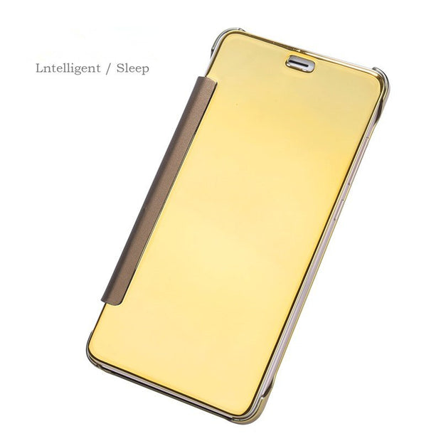Bosilang Electroplating Mirror Surface View Window Leather Case For Xiaomi Redmi Note4