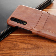 Business Luxury Soft PU Leather Card Inset Back Cover Case For Huawei Mate 9/9 Pro/10/10 Pro Protect Phone For Huawei P20/P20Pro