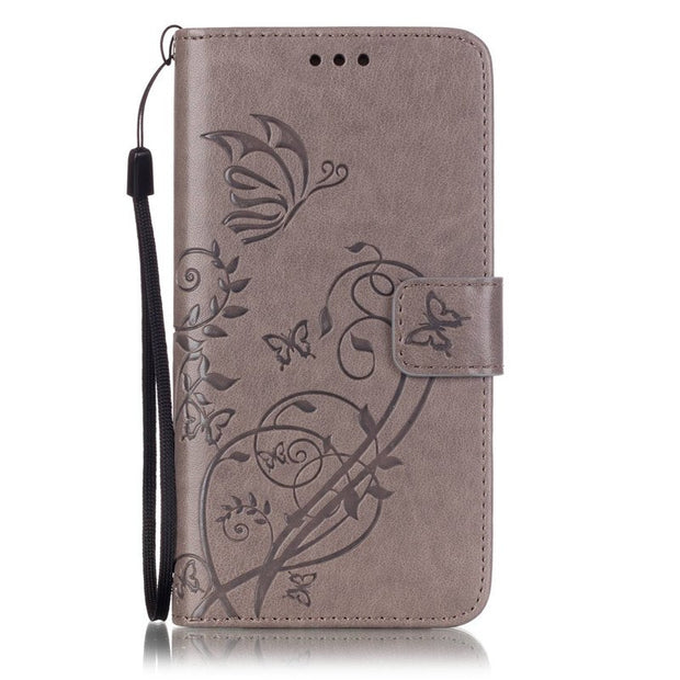 Butterfly Flower Phone Hoesje For Samsung Galaxy J5 2015 Flip Case Stand Silicone Cover For Samsung Galaxy J5 2016 Leather Case