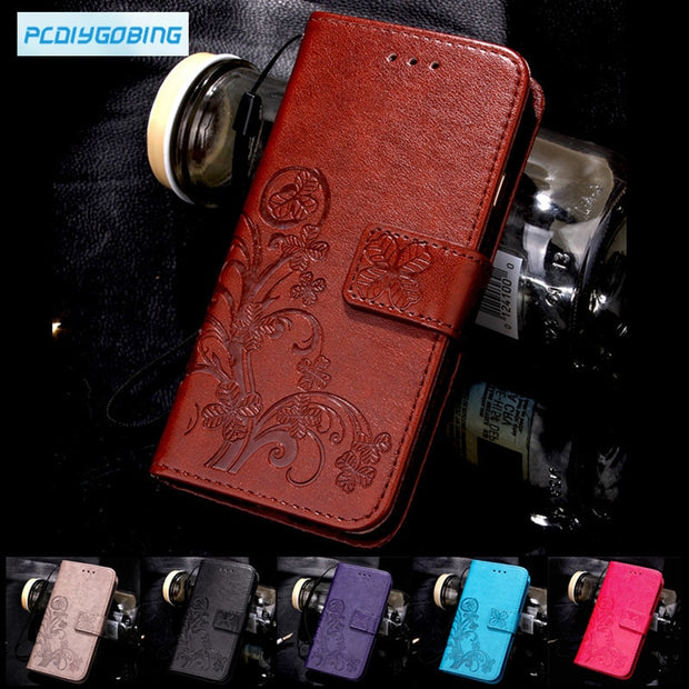 Butterfly Luxury Leather Phone Case For UMI ROME X / UMI ROME Mobile Bg Back Cover Flip Shell Wallet Stand