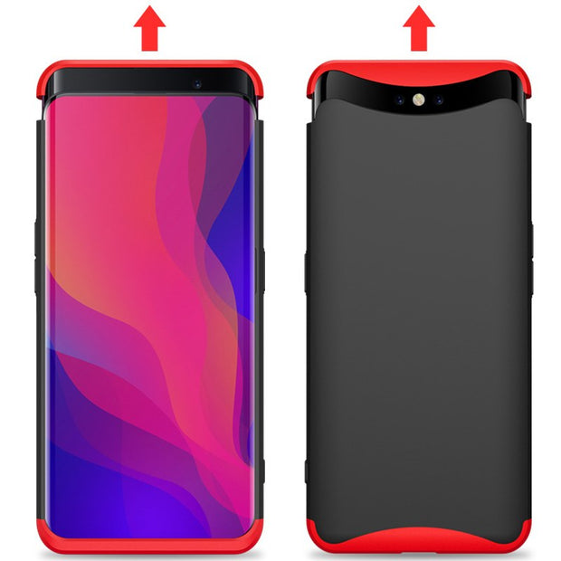 CCDZ Luxury 360 Degree Full Protection Hard PC Case For OPPO Find X 3 In 1 Cover Shockproof Full Body Protective Phone Cases