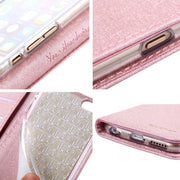 CMAI2 For Apple IPhone X Case Leather Silk Magnetic Flip Wallet Luxury Cover For IPhone X Case Silicone With Stand Cards Pocket