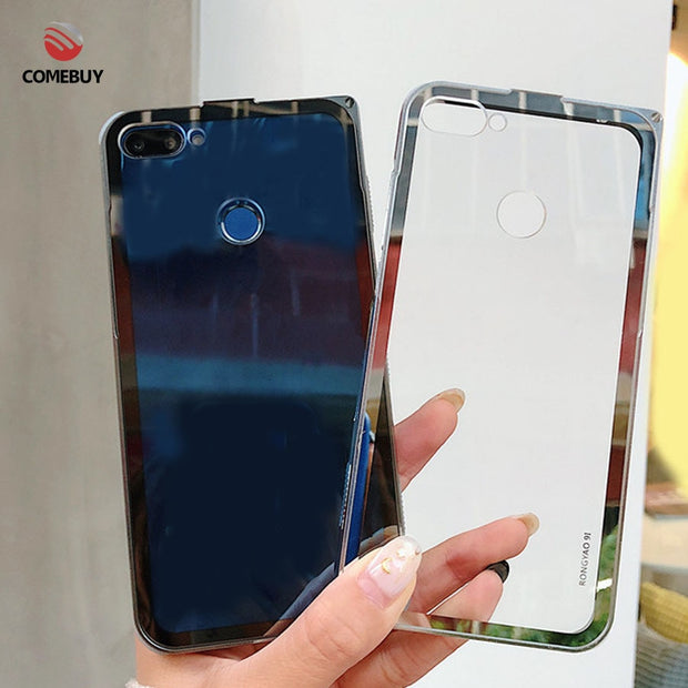 COMEBUY Metal Frame For Huawei P20 Pro Honor 10 9N India Version Case  Transparent Back Cover Business Anti-knock Phone Case