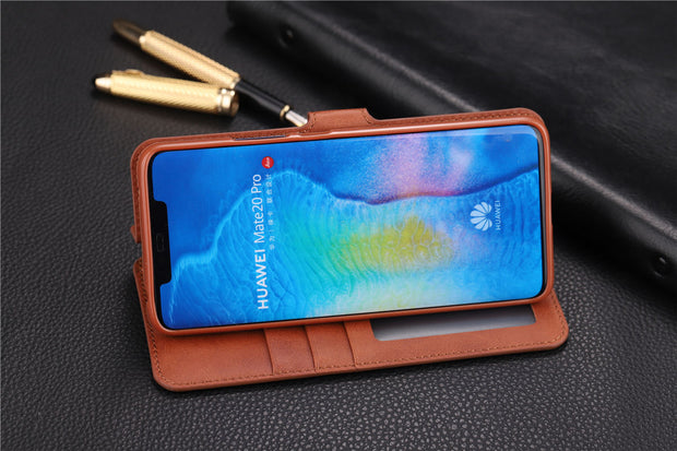 Case For Huawei Mate 20 Pro Luxury Wallet PU Leather Case Stand Flip Card Hold Phone Cover Bags For Huawei Mate 20 Pro