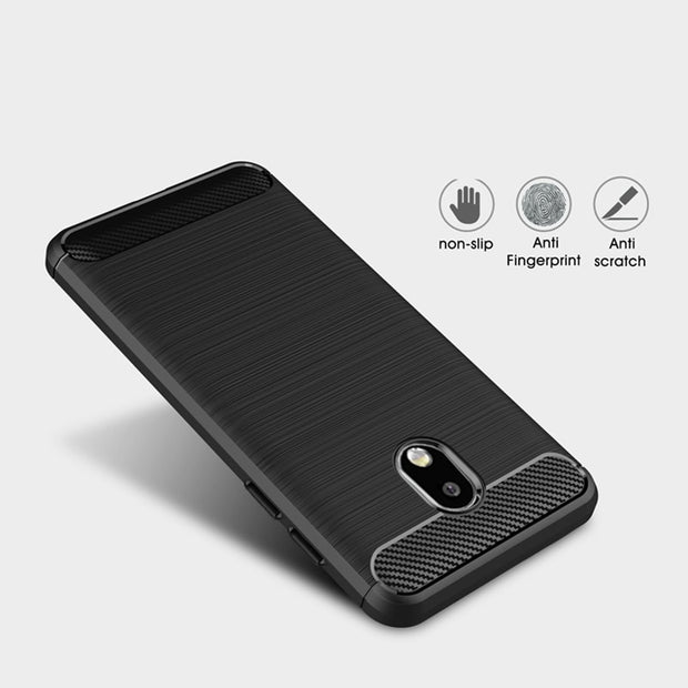 Case For Samsung Galaxy J7 2017 Eurasian Version J730F Carbon Fiber