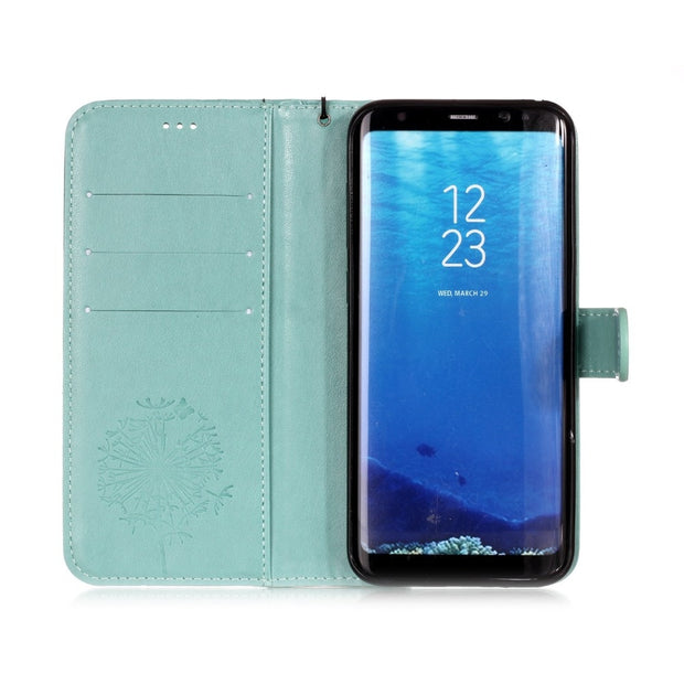 Case For Samsung Galaxy S8 S8 Plus Vintage PU Leather Flip Cover Case For Samsung Galaxy S9 Plus S7 S6 Edge S5 4 Phone Bag Cover