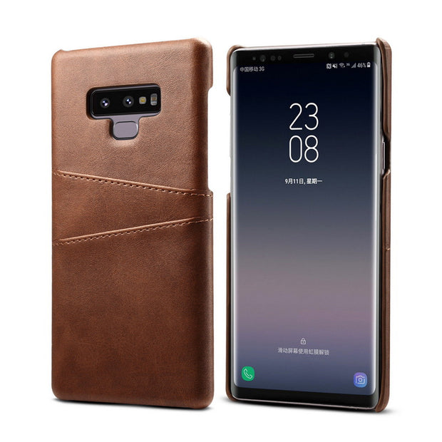 Case For Samsung Note 9 8 Ultra Thin PU Leather Card Holder Back Cover Case For Galaxy S7 Edge S8 S9 Plus A8 2018 Kickstand Capa