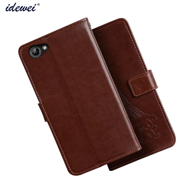 online store 62f61 9a6db Case For Vivo Y71 Cover Luxury Leather Flip Case For Vivo Y71 Protective  Phone Case Back Cover