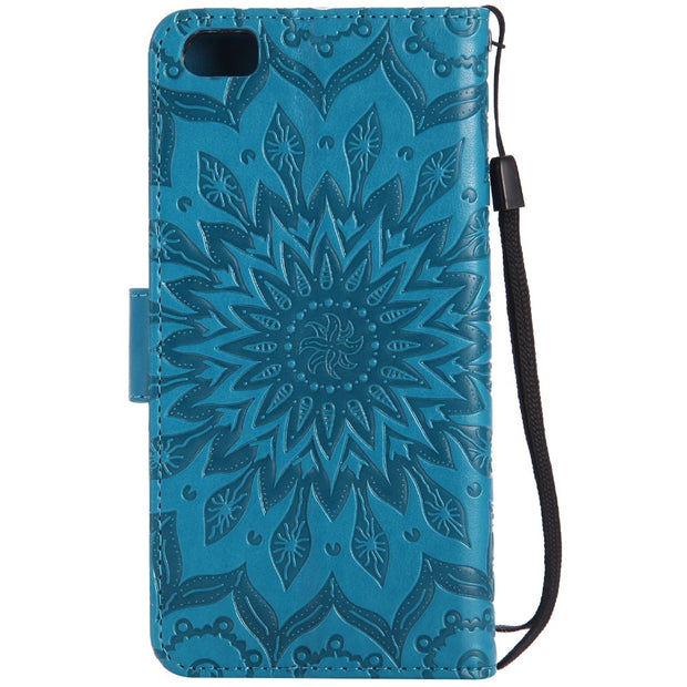 Case For Xiaomi Mi5 Cover Flip PU Leather Card Slot Sunflower Stand Holder Soft For Xiaomi Mi 5 Phone Case Funda Coque KimTHmall