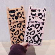 Case For OPPO R11 R11S R9 R9S Plus A37 A57 A59 A77 3D Beard Cat Phone Back Cover Cute Cartoon Cat Cover Funda Coque Brand