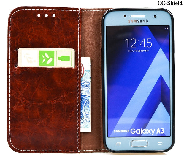 Case For Samsung Galaxy A3 2017 SM-A320F SM-A320FL SM-A320 TPU Back Box Flip Phone Leather Cover For A 320 A320 A320F A320FL Bag