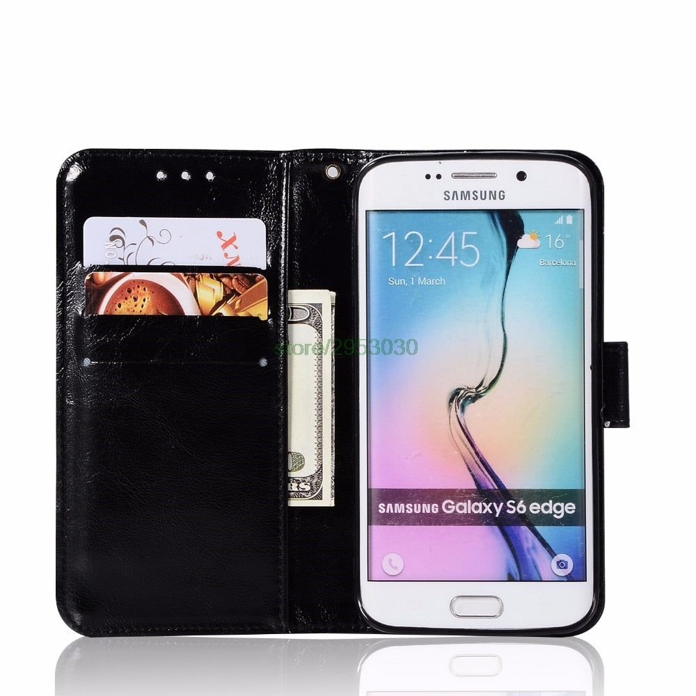 d462ad0aff2 Case For Samsung Galaxy S7 S 7 G930FD Vintage Retro Plain Leather Wall