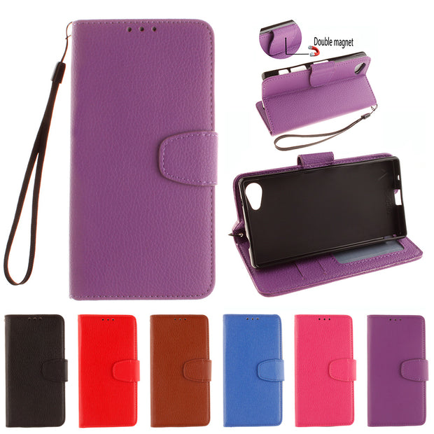 Case For Sony Xperia Z 5 Compact 5Compact Z5 Mini Flip Case Phone Leather Cover For SONY Z5C Z5Compact E5803 E5823 E 5803 5823