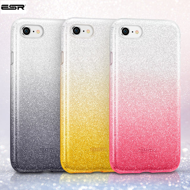 low priced 10cfa 68a0e Case For Iphone 8 7 Inch, ESR Makeup Series Back Cover Shinning Protective  Bumper Bling Glitter 3Layer Case For IPhone 8 7Plus