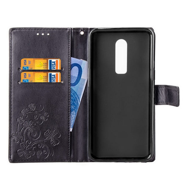 Clover Flower Flip Wallet Case Bag For OnePlus 6 Book Style Slim Leather Stand Card Holder Cover For One Plus 6 5 5T 3 3T Coque
