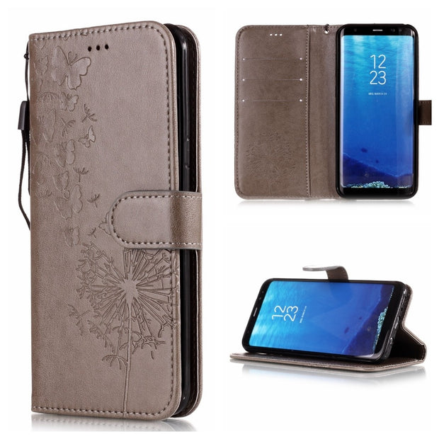 Cover For Samsung S8 Case Cover Samsung S 8plus Case Flip Luxury Leather TPU Phone Cases For Samsung Galaxy S9 Plus S7edge Cover