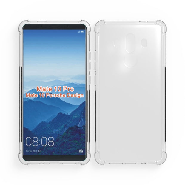 Crystal Clear Anti-slip Anti-Scratch Shockproof Durable Flexible TPU Soft Case Cover For Huawei Mate 10 Pro