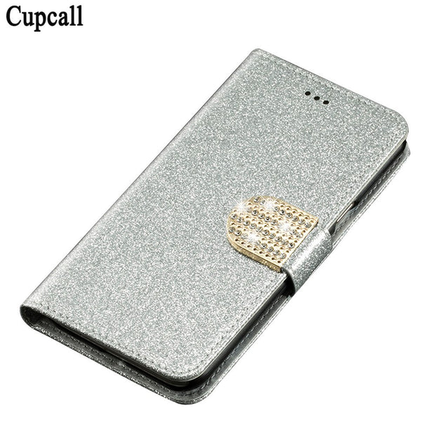 Cupcall Case For Lenovo Vibe K6 Note 5.5 Inch Leather Flip Cover For Lenovo Vibe K6 Note 5.5 Inch Bling Cover