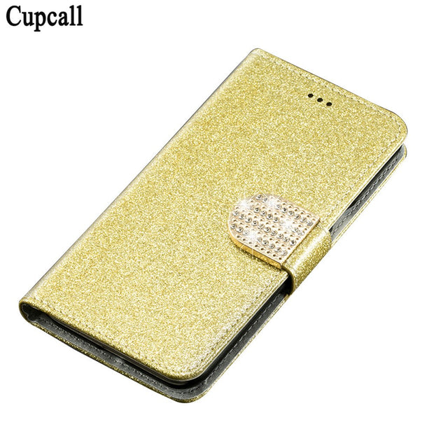 Cupcall Cover Luxury Glitter Wallet Case For OPPO F1s PU Leather Flip Phone Bag Magnetic Fashion Cases Kickstand