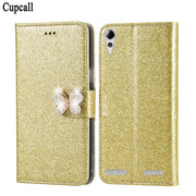 Cupcall Flip Phone Cover For Lenovo K3 / A6000 / K30-T / K30-W Case Wallet Leather Card Slot Capinhas With Butterflies