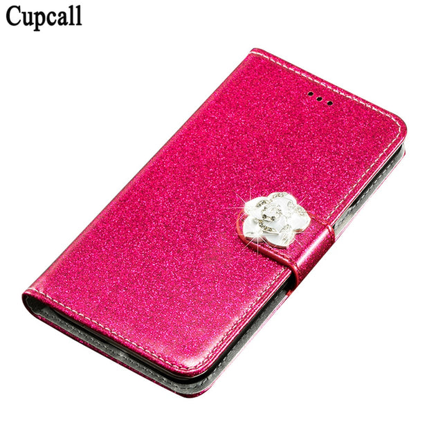 Cupcall For Leagoo M5 Plus Case Luxury PU Leather Cases Skin For Leagoo M5 Plus Flip Cover Open Up And Down