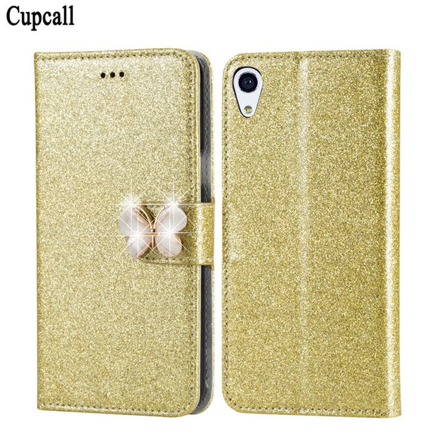 Cupcall Leather Wallet Case For Sony Xperia X F5122 F5121 5.0inch Cases Hight Quality Soft Back Phone Cover