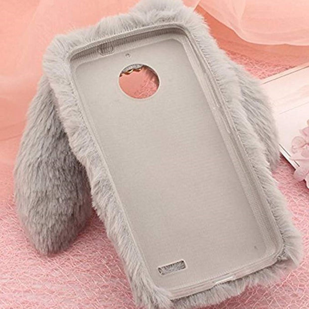 timeless design a7617 148c9 Cute Fluffy Rabbit Hair Fur Case For Samsung Galaxy S6 S7 EDGE S8 S9 ...
